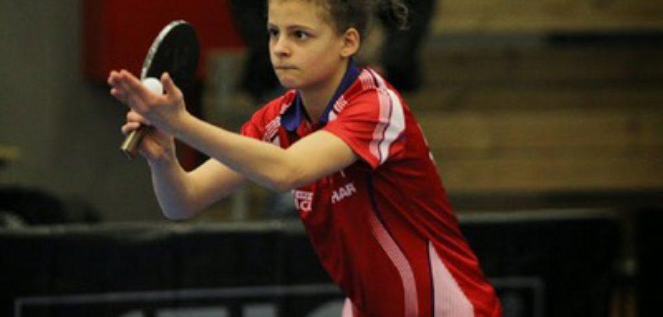 Camille au Championnat d'Europe jeune à Zagreb